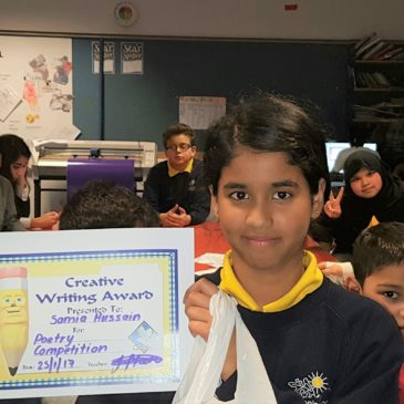 Poetry Competition Winner at the Zone after school club