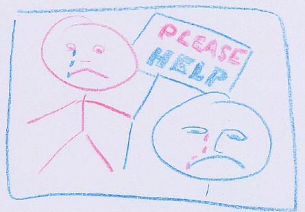 CHILDREN SEEK HELP
