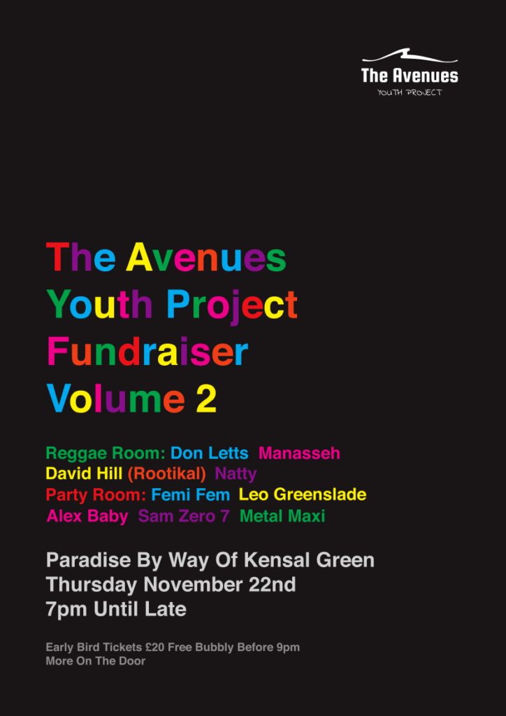 Invite to Avenues Fundraiser Party Vol. 2(1)
